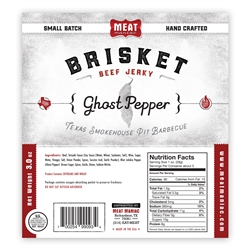 Meat Maniac Ghost Pepper Brisket Jerky