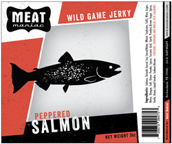 Meat Maniac Peppered Salmon Jerky (3oz)
