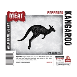 Meat Maniac Peppered Kangaroo Jerky (3oz)