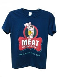 Meat Maniac Navy T-Shirt