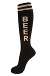Beer Socks- Black & Tan