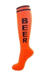 Beer Socks- Orange