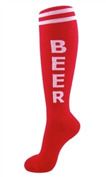 Beer Socks- Red
