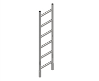 5' Steel Ladder 14""
