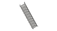 7' Universal Stair Stringer and Treads
