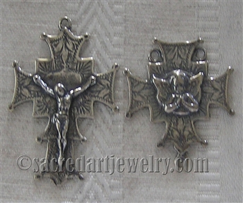 Gothic Rosary Parts - Vintage and antique rosary components in sterling silver and bronze, for your rosary beads and faith jewelry. Create magnificent rosaries, your favorite chaplets, key chains, and Catholic gifts such as rosary necklaces, bracelets, an