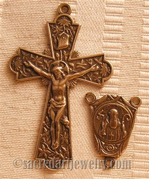 - Vintage and antique rosary components in sterling silver and bronze, for your rosary beads and faith jewelry. Create magnificent rosaries, your favorite chaplets, key chains, and Catholic gifts such as rosary necklaces, bracelets, and earrings.
