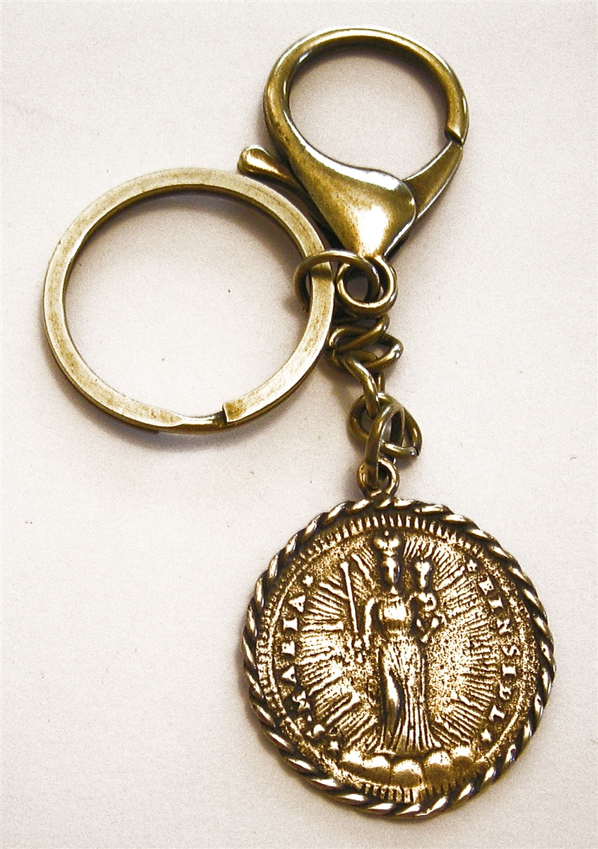 medallion pray for yellow solid gold pendant s michael catholic st charm us itm
