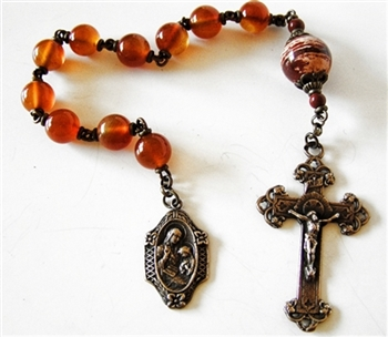 St Anne Pray for Us Chaplet Tenner Rosary