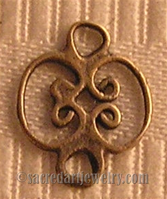 "Artisan Link Connector 3/8"" - Catholic religious rosary parts in authentic antique and vintage styles with amazing detail. Large collection of heirloom pieces made by hand in California, US. Available in true bronze and sterling silver."