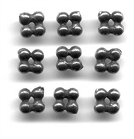 Medium Four Dots Spacer 3/16""