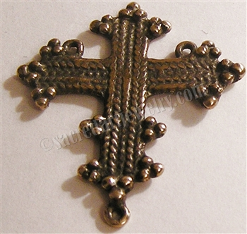 "Coptic Rosary Center 1 1/2"" ​- Catholic rosary parts in authentic antique and vintage styles with amazing detail. Large collection of heirloom rosary centerpieces, crosses, crucifixes and medals made by hand in  true bronze and sterling silver."