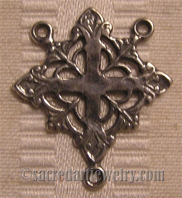 "Cross Rosary Center 1"" ​- Catholic rosary parts in authentic antique and vintage styles with amazing detail. Large collection of heirloom rosary centerpieces, crosses, crucifixes and medals made by hand in  true bronze and sterling silver."