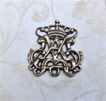 Auspice Maria Crown Rosary Center 1 1/4""