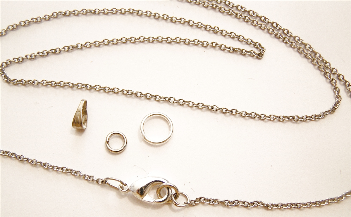 1 5mm Minimalist Stainless Steel Cross Chain Necklace, Conditioned, Lobster  Clasp, Large End Ring - Removable Bail