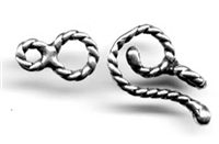 "Small Hook and Eye Clasp 5/8"" - Around two dozen jewelry clasp styles. Toggle clasps, fish hook clasps, ring clasps and more for your bracelet and necklace designs. Handmade vintage originals cast in sterling silver and bronze."