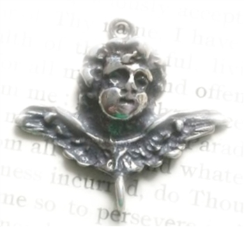 Winged Cherub Victorian Link Connector 1""