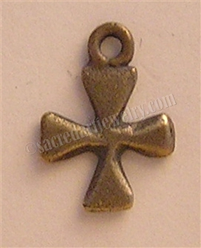 "Tiny Cross Necklace Pendant 5/8"" - Catholic cross pendants and crucifixes in authentic antique and vintage styles with amazing detail. Large collection of crucifixes, centerpieces, and heirloom medals made by hand in California, US."