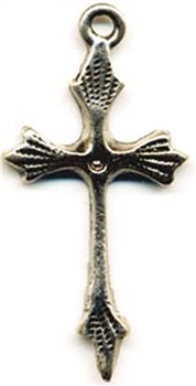 Charm, Thin Cross, Guatemala.Available in Pewter or Sterling Silver. 1 1/2""