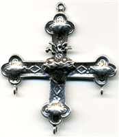 "Yalalag Cross Mexico 2"" - Catholic cross pendants and rosary crucifixes in authentic antique and vintage styles with amazing detail. Large collection of crucifixes, centerpieces, and heirloom medals made by hand in California, US."