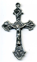 "Crucifix with Tools 2"" - Catholic religious rosary parts in authentic antique and vintage styles with amazing detail. Large collection of crucifixes, centerpieces, and heirloom medals made by hand in California, US."