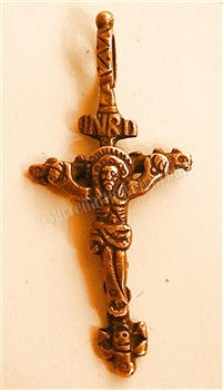 "Child Crucifix 2"" - Religious crosses, Catholic crucifixes, rosary parts in authentic antique and vintage styles with amazing detail. Large collection of crucifixes, centerpieces, and heirloom medals made by hand in California, US."
