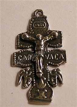 "Caravaca Crucifix 1"" - Religious crosses, Catholic crucifixes, rosary parts in authentic antique and vintage styles with amazing detail. Large collection of crucifixes, centerpieces, and heirloom medals made by hand in California, US. Available in true b"