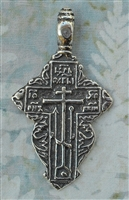 "Orthodox Cross Pendant 2 1/8""- Catholic religious rosary parts, crosses and medals in authentic antique and vintage styles with amazing detail. Lovely collection of Russian Orthodox jewelry pendants, crucifixes, centerpieces, and heirloom medals"