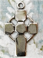 "Simple Celtic cross medal 1 1/8"" necklace pendant is part of our collection of authentic vintage and antique medal reproductions. Available in bronze and sterling. Perfect to wear concealed, or to showcase as the cutest Celtic cross choker pendant."