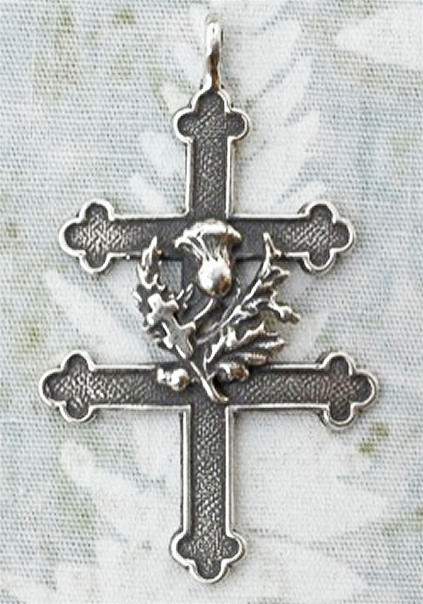 Cross of Lorraine with Thistle 1 5/8