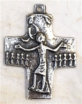 "Trinity Cross by Egino Weinert 2"" - Catholic religious medals in authentic antique and vintage styles with amazing detail. Large collection of heirloom pieces made by hand in California, US. Available in true bronze and sterling silver."