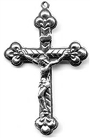 Trinity Form with Buds Italy Crucifix 2""