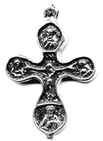 "Ancient Crucifix 2"" - Catholic religious rosary parts in authentic antique and vintage styles with amazing detail. Large collection of crucifixes, centerpieces, and heirloom medals made by hand in California, in true bronze and .925 sterling silver."