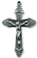 Art Deco Crucifix 1 3/4 - Catholic religious rosary parts in authentic antique and vintage styles with amazing detail. Large collection of crucifixes, centerpieces, and heirloom medals made by hand in true bronze and sterling silver.