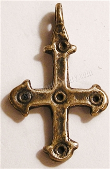 "Coptic Cross 1 1/4"" - Catholic religious rosary parts in authentic antique and vintage styles with amazing detail. Large collection of crucifixes, centerpieces, and heirloom medals made by hand in California, US. Available in true bronze and .925 sterling"