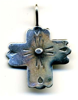 "Southwest Style Cross 1"" - Catholic religious rosary parts in authentic antique and vintage styles with amazing detail. Large collection of crucifixes, centerpieces, and heirloom medals made by hand in true bronze and .925 sterling silver."