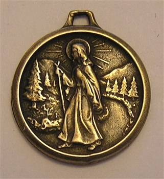 "I Am A Catholic Medal 1"" - Catholic religious medals in authentic antique and vintage styles with amazing detail. Large collection of heirloom pieces made by hand in California, US. Available in sterling silver and true bronze."