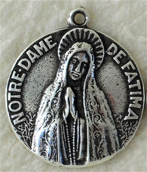 "World Peace Medal Fatima 3/4"" - Catholic religious medals in authentic antique and vintage styles with amazing detail. Large collection of heirloom pieces made by hand in California, US. Available in true bronze and sterling silver"