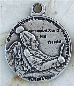 "St Martin Medal 3/4"" - Catholic religious medals in authentic antique and vintage styles with amazing detail. Large collection of heirloom pieces made by hand in California, US. Available in sterling silver and true bronze"