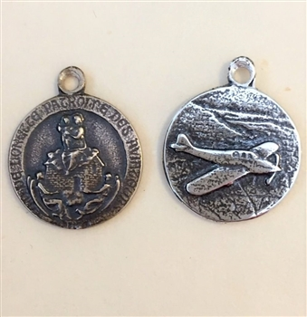 Our Lady of Loretto, Small, 3/4″ - Catholic religious medals in authentic antique and vintage styles with amazing detail. Large collection of heirloom pieces made by hand in California, US. Available