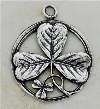 Irish Shamrock Pendant 1""