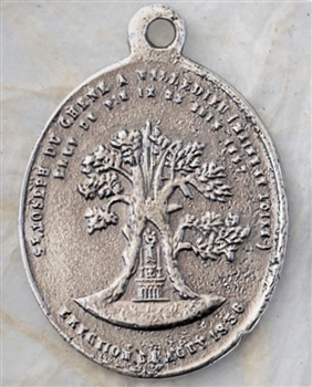St. Joseph of the Oak/Holy Family with Angel, France Medal  1 1/4""