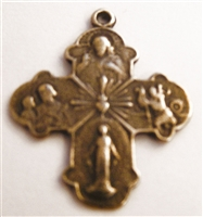 Holy Family Cross Medal 1""