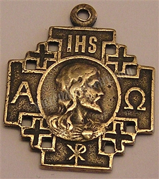 "Medal, Crusades. 1 1/4"" - Catholic religious medallions in authentic antique and vintage styles with amazing detail. Large collection of heirloom pendants for your necklace or bracelet in true bronze and sterling silver."