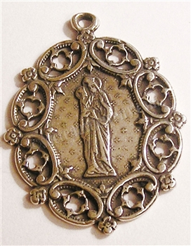 St Anne with Mary Filigree Medal 1 1/2""