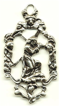 Jesus Carrying the Cross Medal 2 3/4""