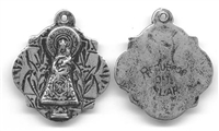 Blessed Mother Medal, Our Lady of the Pillar - Catholic religious medals in authentic antique and vintage styles with amazing detail. Large collection of heirloom pieces made by hand in California, US. Available in true bronze and sterling silver.