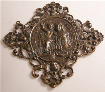 ​Blessed Mother Filigree Medallion, Our Lady of Carmel, Pendant Medal 18th Century (1718) Europe - Catholic religious medals in authentic antique and vintage styles with amazing detail. Large collection of heirloom pieces made by hand.