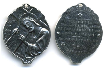 Jesus & Cross Medal 1 3/8""