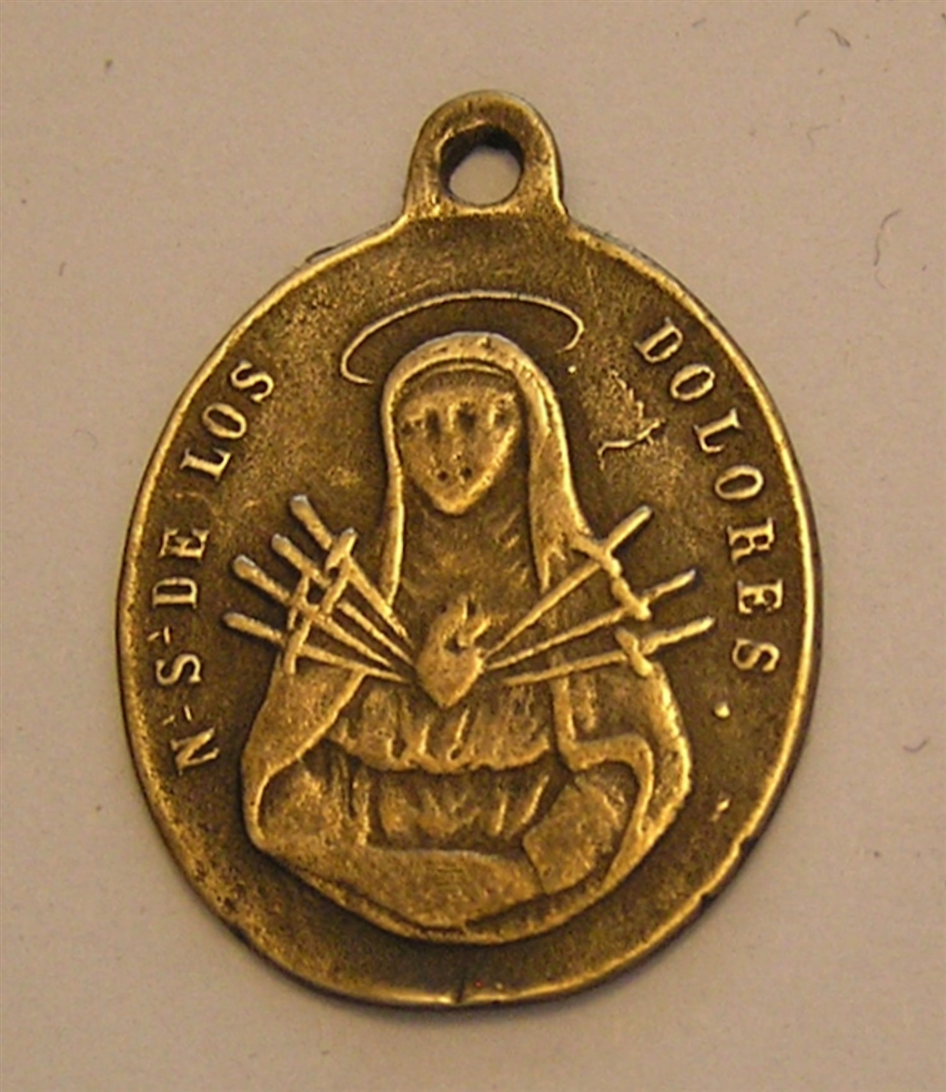 Our Lady of Sorrows Medal 1 1/8